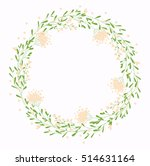 floral wreath  vector | Shutterstock .eps vector #514631164