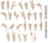 Small photo of Finger Spelling the Alphabet in American Sign Language (ASL)
