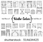 vector set with hand drawn...   Shutterstock .eps vector #514634425