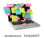 image of laptop full of... | Shutterstock . vector #514636957