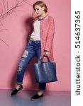 fashion studio photo of... | Shutterstock . vector #514637365