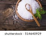 large white sea salt in a... | Shutterstock . vector #514640929