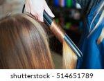 woman hairdresser making... | Shutterstock . vector #514651789