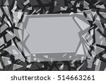 monochrome background. abstract ... | Shutterstock .eps vector #514663261