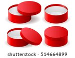 red box. round decoration gift...   Shutterstock .eps vector #514664899