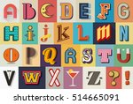 mixed retro and vintage... | Shutterstock .eps vector #514665091