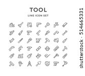set line icons of tool isolated ... | Shutterstock .eps vector #514665331
