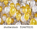 golden balloons background. new ... | Shutterstock . vector #514670131