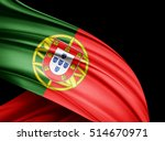 portugal flag of silk with... | Shutterstock . vector #514670971