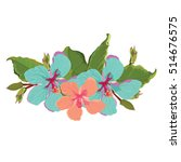 hibiscus summer vector design | Shutterstock .eps vector #514676575