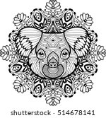 totem coloring page for adults. ... | Shutterstock .eps vector #514678141