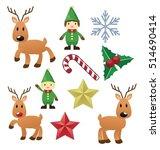 christmas elements vector   Shutterstock .eps vector #514690414