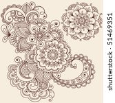 hand drawn abstract henna... | Shutterstock .eps vector #51469351
