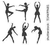 poses of ballet  hand drawn... | Shutterstock .eps vector #514699681
