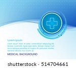 abstract molecules medical... | Shutterstock .eps vector #514704661