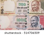 india banknote. india rupee 500 ... | Shutterstock . vector #514706509