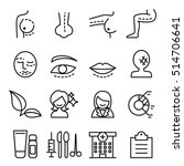 surgery icon set in thin line... | Shutterstock .eps vector #514706641