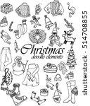 christmas design element in... | Shutterstock .eps vector #514708855