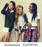 girlfriend friendship... | Shutterstock . vector #514709755