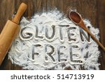 gluten free flour with text... | Shutterstock . vector #514713919