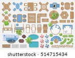isolated vector illustration.... | Shutterstock .eps vector #514715434