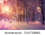 beautiful winter landscape... | Shutterstock . vector #514718881