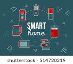 smart home illustration.... | Shutterstock .eps vector #514720219