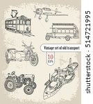 transport. vintage set | Shutterstock .eps vector #514721995