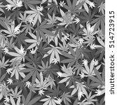 Seamless Cannabis Leaves...