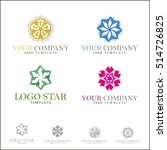 vector floral icons and logo... | Shutterstock .eps vector #514726825