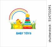 toys kids. vector sign  the... | Shutterstock .eps vector #514731091
