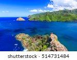 marquesas islands. bay of... | Shutterstock . vector #514731484