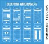 mobile wireframe app ui kit 47. | Shutterstock .eps vector #514737091
