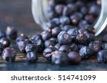 Juniper Berries Spilled From A...