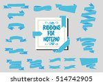 blue ribbon for notebook.... | Shutterstock .eps vector #514742905