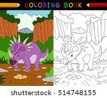 Cartoon Styracosaurus Coloring...