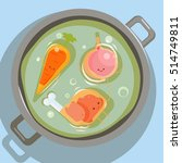 view from above soup. glad... | Shutterstock .eps vector #514749811