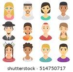 set of cool avatars different...   Shutterstock .eps vector #514750717