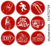 fire safety and means of... | Shutterstock .eps vector #514752739