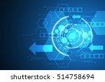 vector abstract background... | Shutterstock .eps vector #514758694