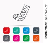 gypsum or cast foot icon.... | Shutterstock .eps vector #514761079