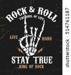 hand drawn rock festival poster....   Shutterstock .eps vector #514761187