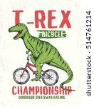 dinosaur illustration for kids... | Shutterstock .eps vector #514761214