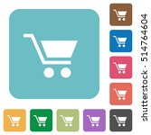 empty cart white flat icons on... | Shutterstock .eps vector #514764604