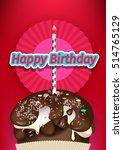 birthday cake | Shutterstock .eps vector #514765129