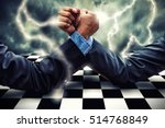 businessman competing in arm... | Shutterstock . vector #514768849