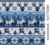 christmas seamless pattern with ... | Shutterstock .eps vector #514770385