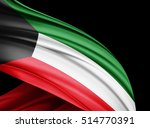 kuwait flag of silk with... | Shutterstock . vector #514770391