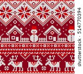 christmas seamless pattern with ... | Shutterstock .eps vector #514770394