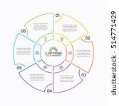 thin line pie chart infographic ...   Shutterstock .eps vector #514771429